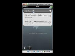 Palm Pre - screenshot z emulátoru