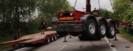 Utržený návěs způsobil na Hodonínsku vážnou dopravní nehodu