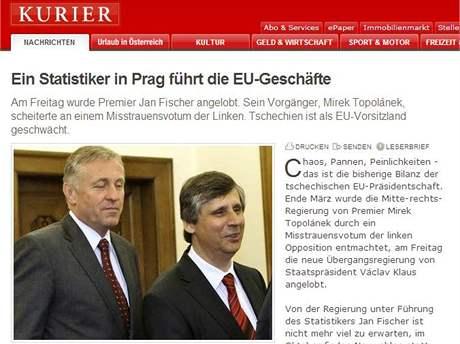 Kurier: České předsednictví EU je chaos, nehody a trapnosti