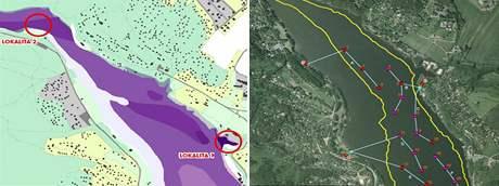 Mapka upouštění Brněnské přehrady