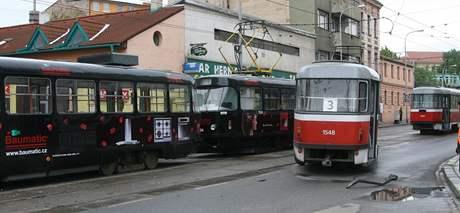 V Brně se srazily tramvaje