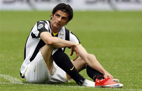 Juventus - Bergamo: zklamaný domácí Vincenzo Iaquinta