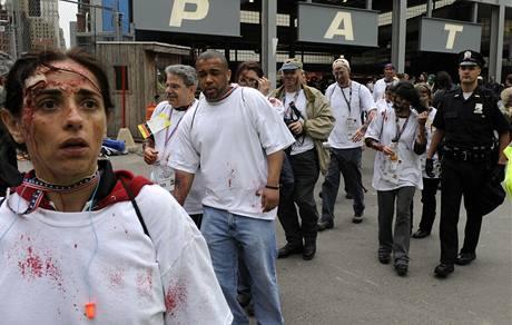 Nácvik záchranné akce po atentátu v New Yorku (17. 5. 2009)