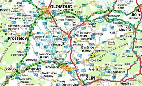 Mapa - Holešov