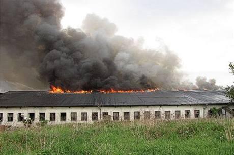 Požár seníku ve Staré Vsi na Ostravsku