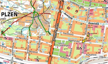 Mapa - Plzeň
