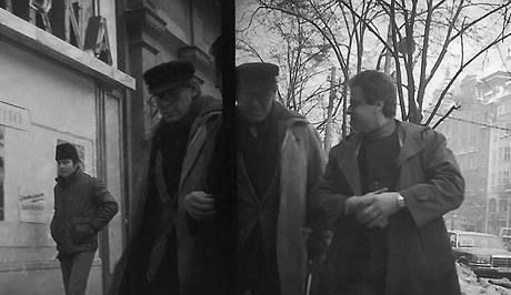 Režisér Miloš Forman asi 13. ledna na Václavském náměstí