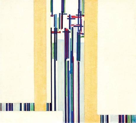 Obrazy Františka Kupky se prodávají víc než draze - Elevation (22,1 miliony korun).