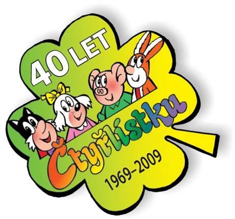 logo oslav 40 let Čtyřlístku