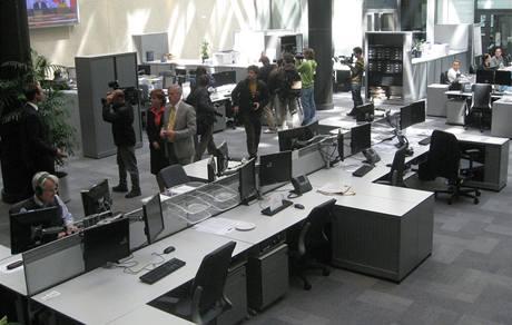 Nový newsroom redaktorů stanice Rádio Svobodná Evropa