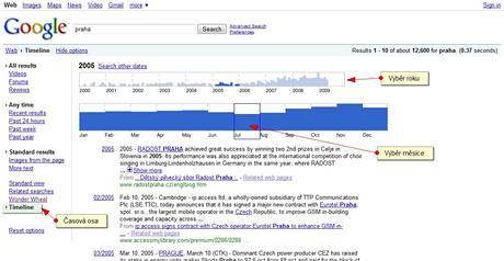 Google časová osa