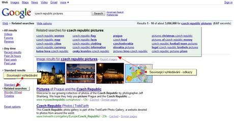 Google návrhy souvisejících dotazů