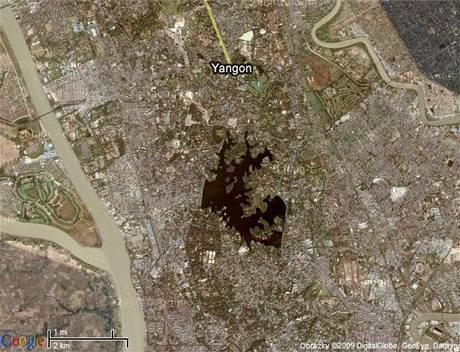 Mapa Rangúnu
