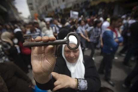 Palestinci si připomínají smuteční den Nakba, kdy byl vyhlášen vznik státu Izrael (14. květen 2009)