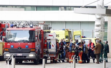 V budově Evropského parlamentu propukl požár (18. května 2009)