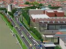 Na projekt obří křižovatky s názvem Svitavská radiála přímo navazují tunely Dobrovského. Do nich má ústit jeden z výjezdů. Řidiči projedou pod zemí z Králova Pole do Žabovřesk