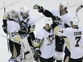 Postupová radost hokejistů Pittsburghu.