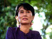 Barmská disidentka Do Aun Schan Su Ťij v roce 1996