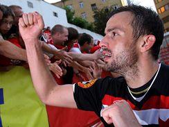 Slavia: Erich Brabec oslavuje titul fotbalového mistra