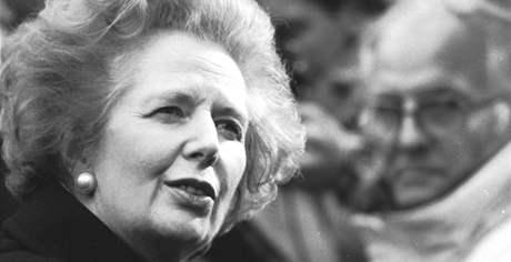 Bývalá britská premiérka Margaret Thatcherová v roce 1988