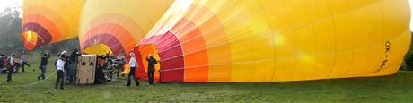 Křest balonů na brněnské Kraví Hoře