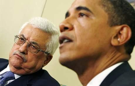 Americký prezident Barack Obama se v Bílém domě setkal se šéfem palestinské samosprávy Mahmúdem Abbásem (29. května 2009)