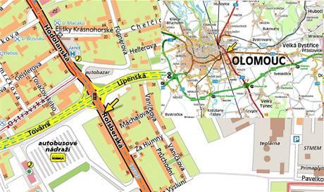 Mapa - Olomouc