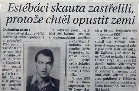 Jan Janků v novinách