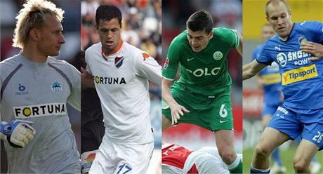 Grafika: nováčci v reprezentaci (zleva) Zdeněk Zlámal, Lukáš Magera, Jan Šimůnek a Daniel Kolář