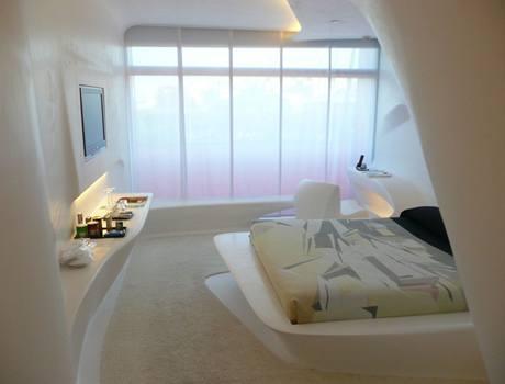 1. podlaží - návrh pokoje od Zahy Hadid