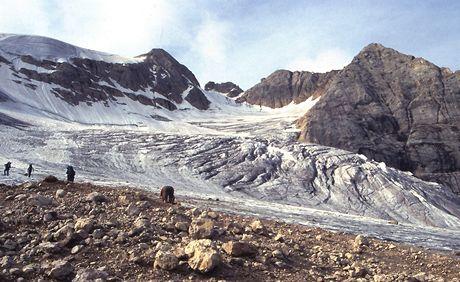 Itálie, Dolomity. Ledovec Marmolady