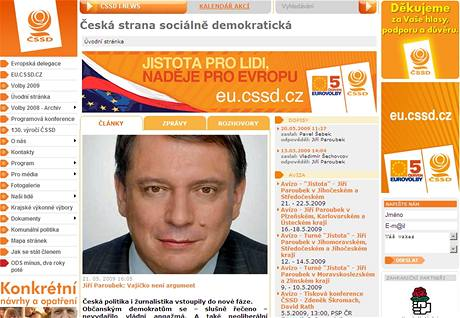Stránka ČSSD.