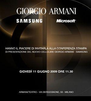 Samsung a Armani chystají nový WM komunikátor