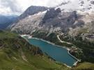 Itálie, Dolomity. Lago di Fedaia