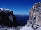 Itálie, Dolomity. Údolí Val Lastites
