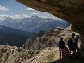 Itálie, Dolomity. Cestou k tunelu Lagazuoi