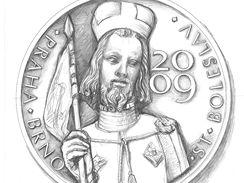 Návrh slavnostní medaile dvatého Václava