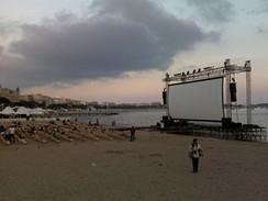 Cannes 2009 - kino na pláži