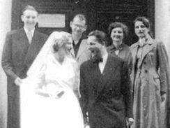 Jaroslav Mezník na svatbě, Janovice 1957