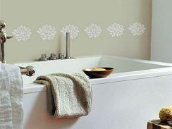Ukázka dekorace koupelnové stěny.