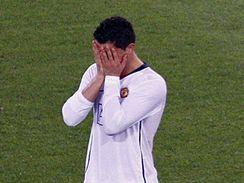 Manchester United: zklamaný Cristiano Ronaldo