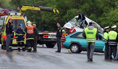Nehoda v Damicích na Karlovarsku (30.5.2009)