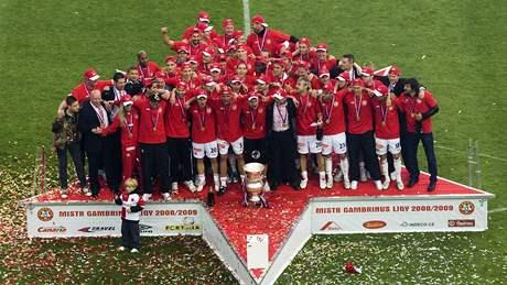 Slávistické oslavy fotbalového titulu 2008/09