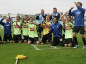 Fotbalisté Čáslavi slaví postup do první ligy