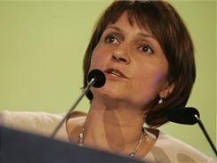 Michaela Šojdrová na vsetínském sjezdu KDU-ČSL (30. května 2009)
