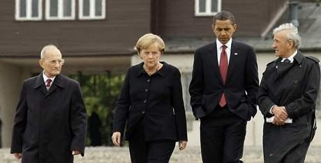 Barack Obama navštívil Buchenwald (5. června 2009)