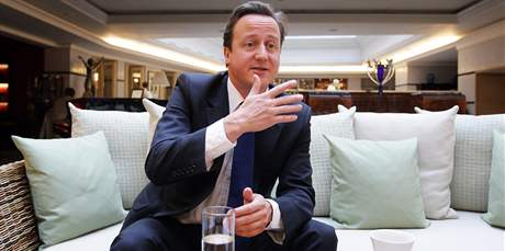 David Cameron, předseda britských konzervativců při návštěvě Prahy, 30. května 2009.