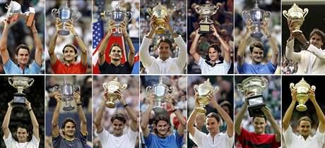 Roger Federer a jeho 14 grandslamových titulů