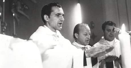 Farář a chartista František Lízna (vlevo)