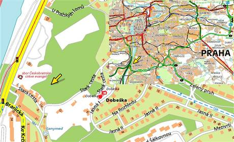 Mapa - Praha